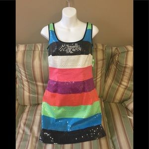 Lilly Pulitzer Multi-Colored Sequined Dress.